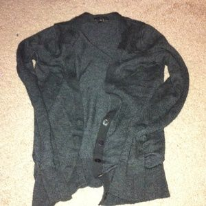 New Express dark grey cardigan